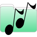 download Music Folder Icon clipart image with 315 hue color