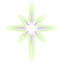 download Star clipart image with 225 hue color