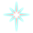 download Star clipart image with 315 hue color