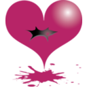 download Red Heart clipart image with 0 hue color
