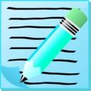 download Notepad With Text And Pencil clipart image with 135 hue color