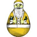 download Rolly Polly Santa clipart image with 45 hue color