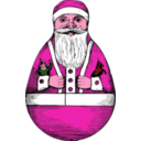 download Rolly Polly Santa clipart image with 315 hue color