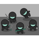 download Cartoon Ninjas clipart image with 135 hue color