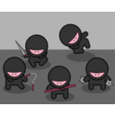 download Cartoon Ninjas clipart image with 315 hue color