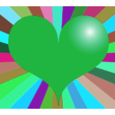 download Red Heart clipart image with 135 hue color