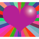 download Red Heart clipart image with 315 hue color