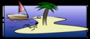 Desert Island Stick Figure