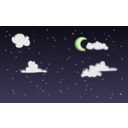 download Night Sky clipart image with 45 hue color