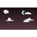 download Night Sky clipart image with 135 hue color