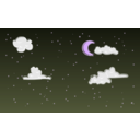 download Night Sky clipart image with 225 hue color