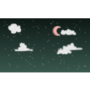 download Night Sky clipart image with 315 hue color
