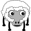 download Sheep002 clipart image with 225 hue color