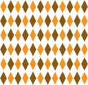 Brown Orange Retro Diamond Pattern 1