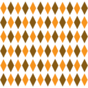 Brown Orange Retro Diamond Pattern 1