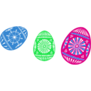 download 3 Colour Easter Eggs clipart image with 135 hue color