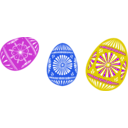 download 3 Colour Easter Eggs clipart image with 225 hue color