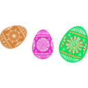 download 3 Colour Easter Eggs clipart image with 315 hue color