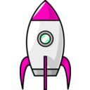 download A Cartoon Moon Rocket clipart image with 315 hue color