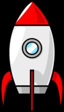 A Cartoon Moon Rocket