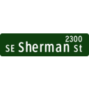 Portland Oregon Street Name Sign Se Sherman Street