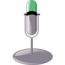download Old Microphone Cleanup Style clipart image with 90 hue color