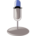 download Old Microphone Cleanup Style clipart image with 180 hue color