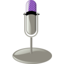 download Old Microphone Cleanup Style clipart image with 225 hue color