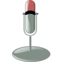 download Old Microphone Cleanup Style clipart image with 315 hue color