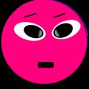 Cool Smiley Pink Emoticon