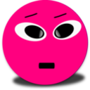 Cool Smiley Pink Emoticon