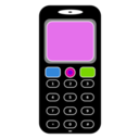 download Mobile Phone clipart image with 90 hue color