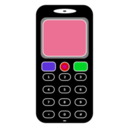 download Mobile Phone clipart image with 135 hue color