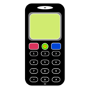 download Mobile Phone clipart image with 225 hue color