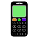 download Mobile Phone clipart image with 270 hue color