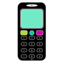 download Mobile Phone clipart image with 315 hue color