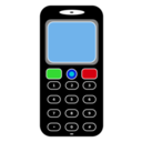 download Mobile Phone clipart image with 0 hue color