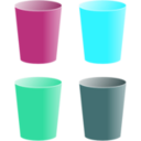 download Cups clipart image with 135 hue color