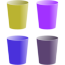 download Cups clipart image with 225 hue color