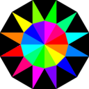 download Rainbow Dodecagram clipart image with 90 hue color