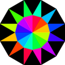 download Rainbow Dodecagram clipart image with 135 hue color