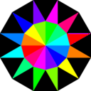 download Rainbow Dodecagram clipart image with 270 hue color