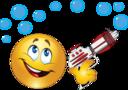 Boy Toy Gun Smiley Emoticon