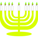 download Simple Menorah For Hanukkah clipart image with 45 hue color