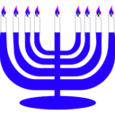 download Simple Menorah For Hanukkah clipart image with 225 hue color