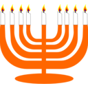 Simple Menorah For Hanukkah