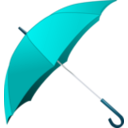 download Red Umbrella clipart image with 180 hue color