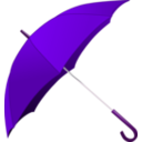 download Red Umbrella clipart image with 270 hue color