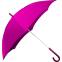 download Red Umbrella clipart image with 315 hue color