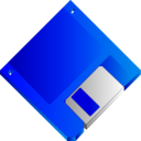 3 5 Floppy Disk Blue No Label